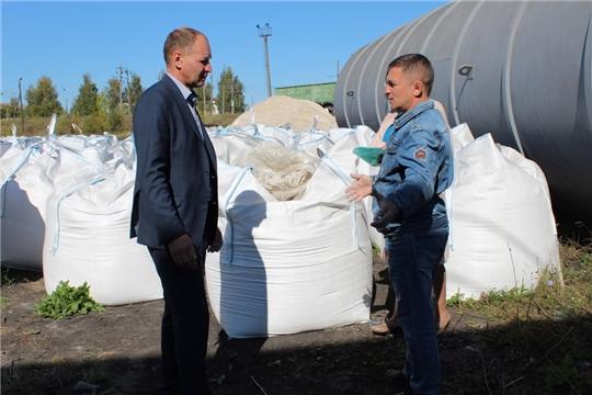 В Урмарском районе заработало новое предприятие по производству минерального порошка для дорожного строительства