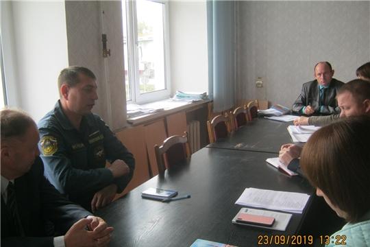 Cостоялось заседание санитарно-противоэпидемической комиссии Урмарского района