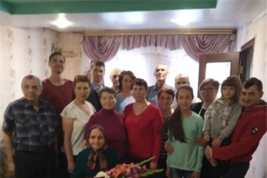 Жительнице деревни Избеби А.Н. Михайловой исполнилось 90 лет