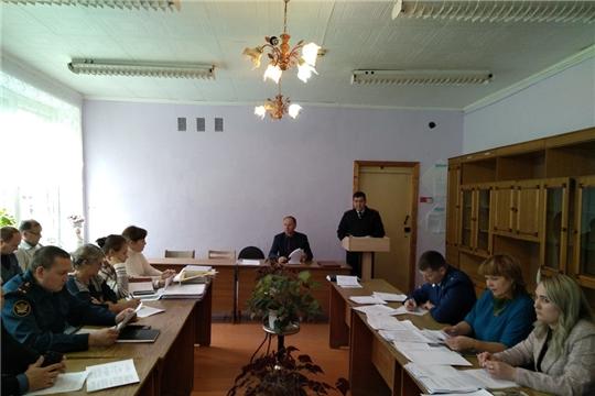 Состоялось совместное выездное заседание  антинаркотической комиссии и комиссии по профилактики правонарушений  в Урмарском районе