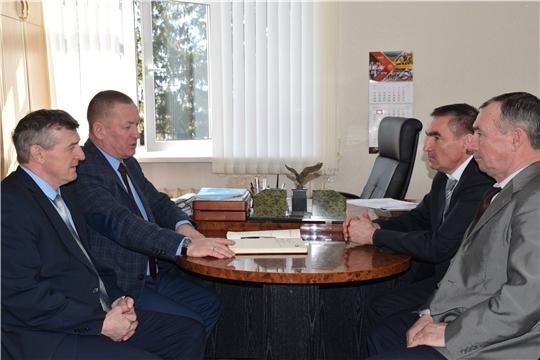 Рабочая встреча руководителя Государственной ветеринарной службы Чувашской Республики с руководством Красночетайского района