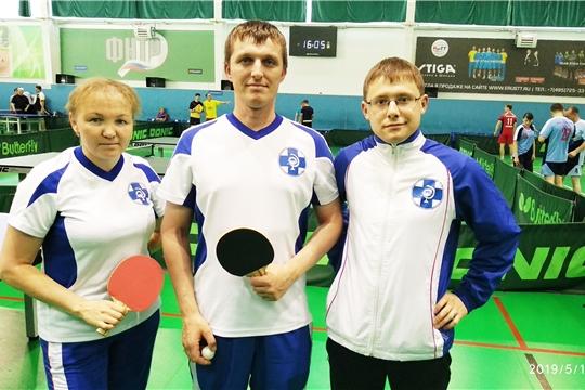 Госветслужба Чувашии приняла участие в соревнованиях по настольному теннису