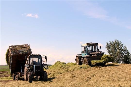 В Моргаушском районе продолжается работа по заготовке кормов и подготовке ферм к зиме
