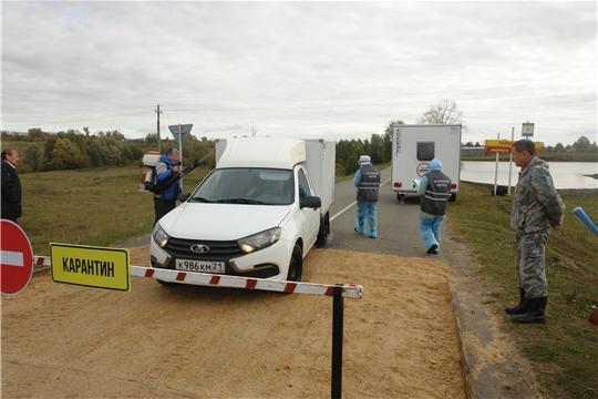 Командно-штабное учение (КШУ) по ликвидации очага ящура на территории Шумерлинского района