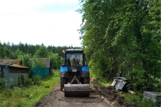 Завершился ремонт грунтовой дороги по ул. Ветеринарная в поселке Вурнары