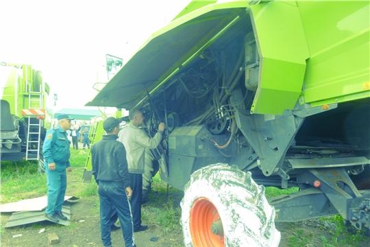В АО «Вурнарский мясокомбинат» прошел технический осмотр зерноуборочных комбайнов