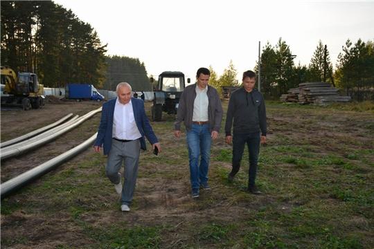 Парламентарий Сергей Павлов ознакомился с ходом строительства биологических очистных сооружений в Вурнарах