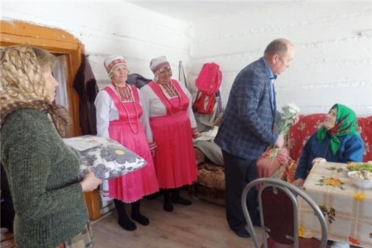 95-летний юбилей отмечает долгожительница из д. Исмендеры Кондратьева Анна Кондратьевна