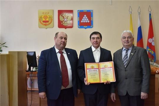 В Ядринской районной администрации состоялось торжественное мероприятие, посвященное Дню местного самоуправления