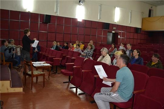 В Ядринском районе полным ходом идут репетиции коллективов художественной самодеятельности по подготовке к районном празднику «Акатуй»