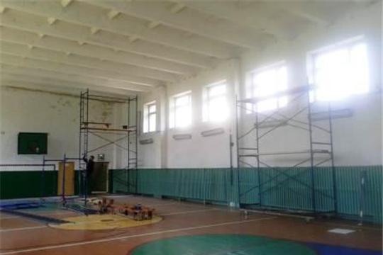 Капитальный ремонт спортивного зала Кукшумской школы