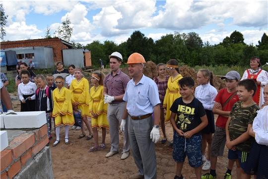 Состоялась церемония символической закладки первого кирпича Ювановского сельского дома культуры