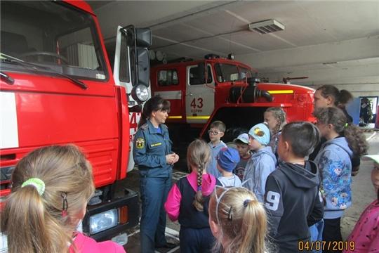 Экскурсия в пожарно - спасательную часть