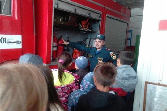В гостях у пожарных