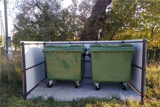 В Ювановском сельском поселении завершена установка контейнеров для ТКО