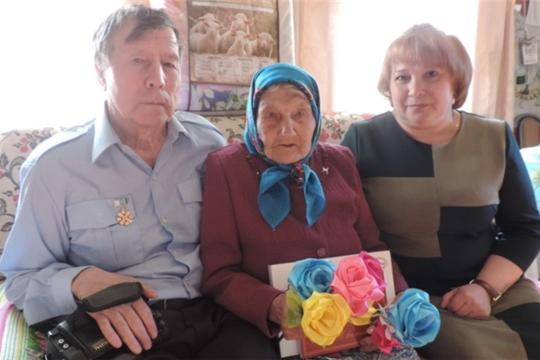 Жительница деревни Малая Таяба Кильдерова Мария Гавриловна отметила свой 90- летний юбилей