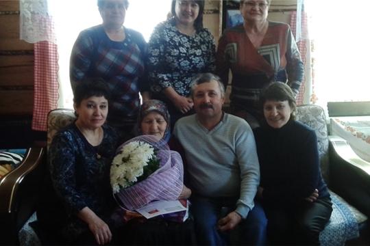 Жительнице д. Новое Янашево Балтаевой Елене Денисовне исполнилось 90 лет