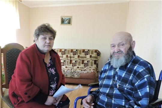 С визитами внимания - к ветеранам Великой Отечественной войны