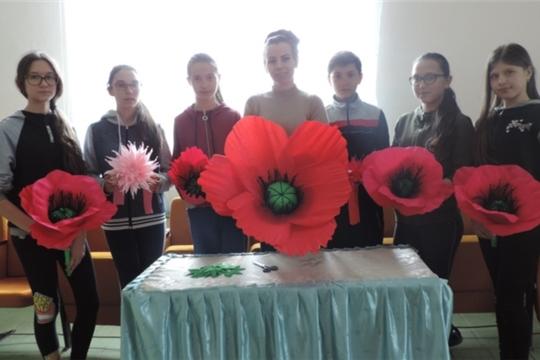 Мастер-класс ДПИ «Цветы Победы» в Малотаябинском сельском Доме культуры