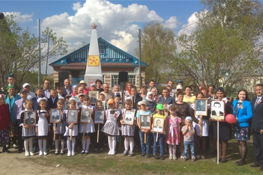 Торжественный митинг прошел в деревне Новое Тойдеряково