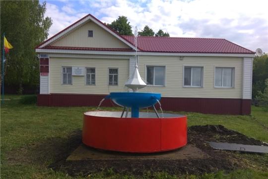 На территории администрации Яльчикского сельского поселения заработал фонтан