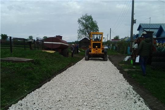 Ремонт дорог местного значения в разгаре
