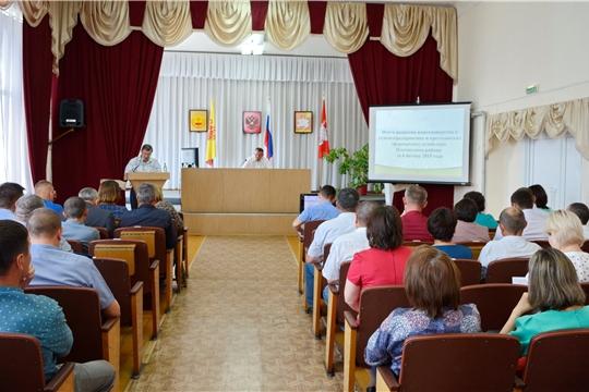 Руководители сельхозорганизаций Яльчикского района подвели итоги смотра качества весенних полевых работ