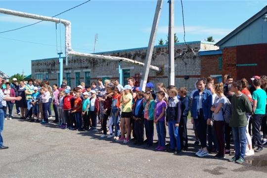 В пришкольном лагере «Солнышко» провели объектовую тренировку по противопожарной безопасности