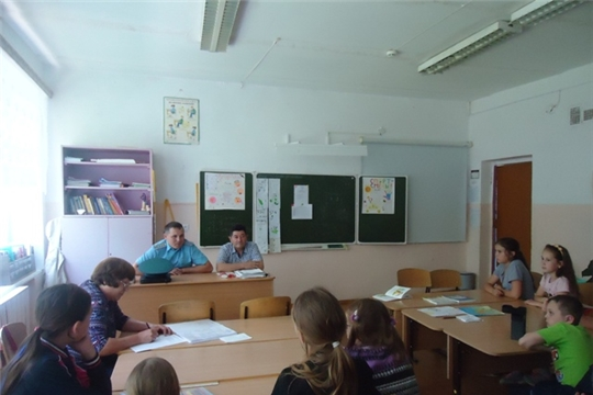 Посещение сотрудников МЧС летнего оздоровительного лагеря «Солнышко»