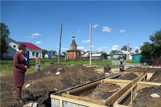 В Яльчикском районе начались работы по строительству двух модульных фельдшерско-акушерских пунктов