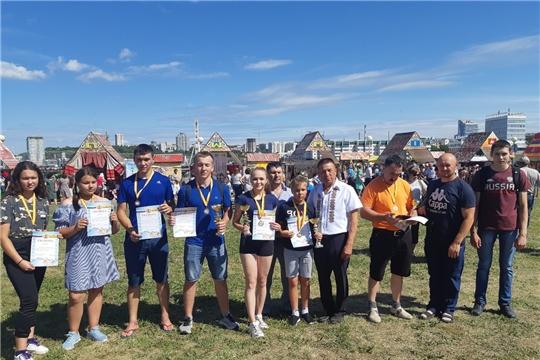 Яльчикские гиревики успешно выступили на празднике «День Чувашской Республики»