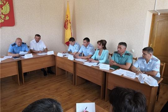 В Яльчикском районе состоялось расширенное заседание координационного совещания руководителей правоохранительных органов по вопросам профилактики преступности