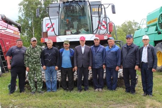 В хозяйствах Яльчикского района начались комиссионные смотры готовности к уборке урожая «Жатва - 2019»