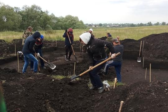 Раскопки на Большетаябинском городище - второй этап