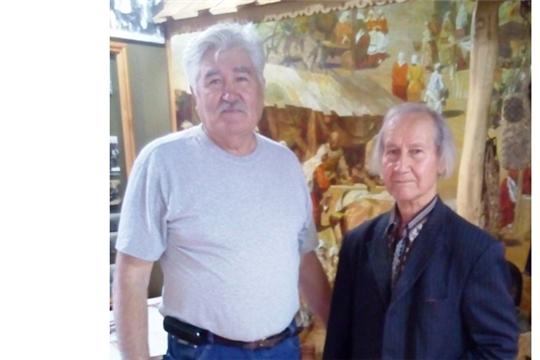 Яльчикский историко-краеведческий народный музей посетили члены Союза художников России