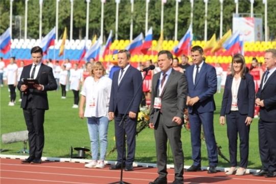 В Чебоксарах торжественно открылся юбилейный 100-й чемпионат России по легкой атлетике