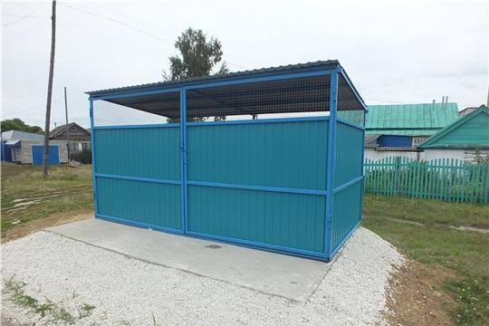 В Большеяльчикском сельском поселении завершена работа по изготовлению и устройству контейнерных площадок