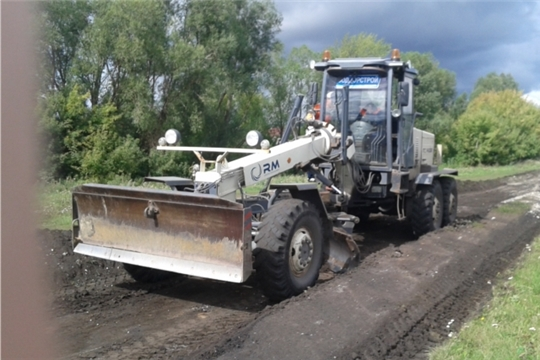 Вести поселений: ремонт грунтовой дороги в д.Кошки-Куликеево