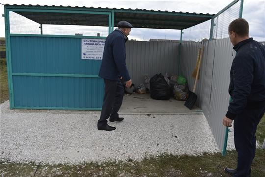 Комиссия проверила содержание контейнерных площадок в районе