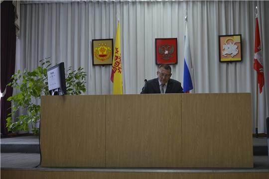 Еженедельное совещание под председательством главы администрации Яльчикского района Николая Миллина