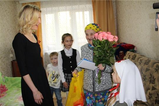 Депутат Государственной Думы РФ Алена Аршинова поздравила участников Великой Отечественной войны Цивильского района