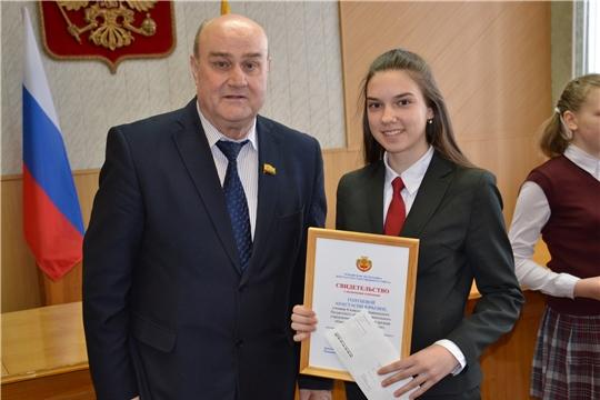 Анастасия Голубева – стипендиат Главы Чувашской Республики за особую творческую устремленность