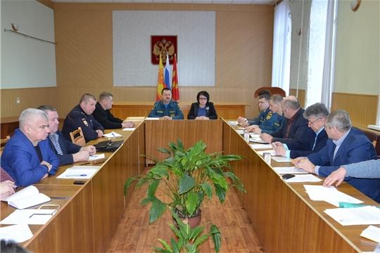 Итоговое заседание комиссии по предупреждению и ликвидации чрезвычайных ситуаций Алатырского района