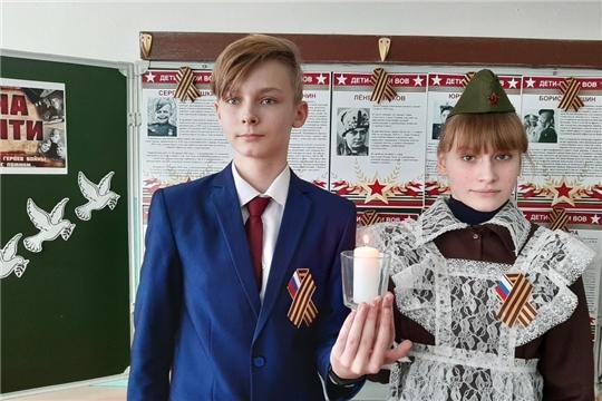 Учащиеся Ахматовской средней школы оформили Стену Памяти