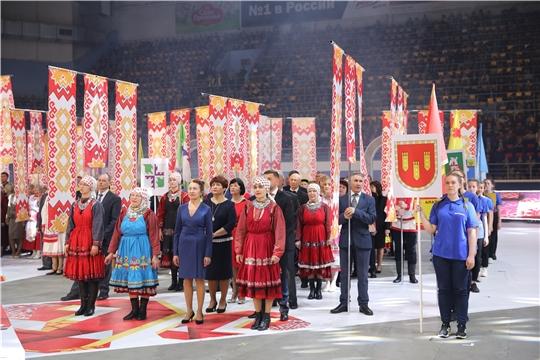 Делегация Алатырского района открыла праздничное шествие, посвященное старту празднования 100-летия образования Чувашской автономной области