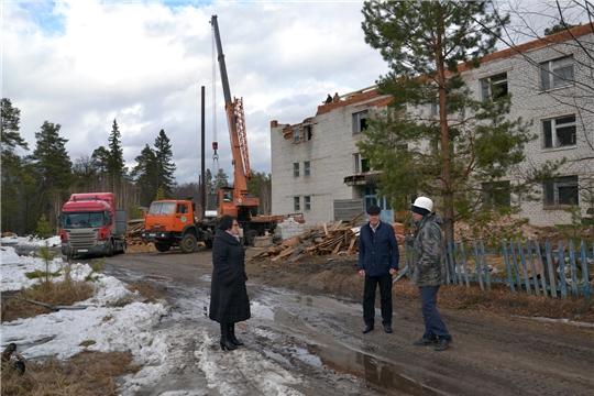 В Алатырском районе ведется реконструкция здания БУ «Социально - оздоровительный центр граждан пожилого возраста и инвалидов «Вега» Минтруда Чувашии