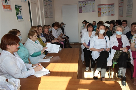В Алатырской центральной районной больнице обсудили проведение диспансеризации населения и профилактику коронавируса