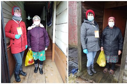 Добрые дела с доставкой на дом от волонтеров Алатырского района