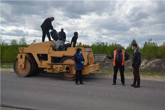 В Алатырском районе на автомобильных дорогах местного значения завершен ямочный ремонт