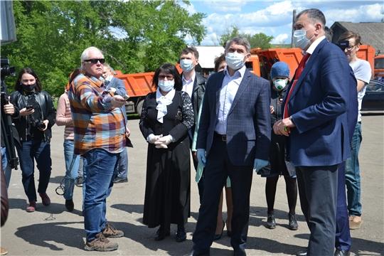 С рабочим визитом в Алатырском районе побывал врио Главы Чувашии Олег Николаев